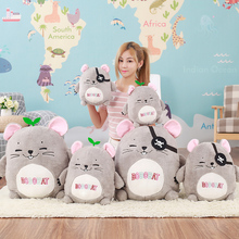 40cm Kawaii Plush Bobo Rat Toy Stuffed Cartoon Animal Mouse Toy Doll Children Gifts(China)