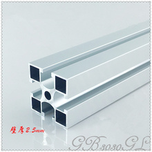 3030 aluminum extrusion profile 3030GL length 100mm wall thickness 2.5mm U slot industrial aluminum profile workbench 1pcs