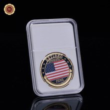 WR United Stated Air Force Colored Bronze Coin Collecting Metal Replica Coin Brass Coins Beautiful Decorative Gifts