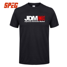 T Shirts Japanese Domestic Market JDM Men's Crew Neck Short Sleeve T-Shirt Hot Selling 100% Cotton Men's Tee Shirts Funny(China)