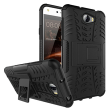 Cool bracket Rugged Kickstand Armor Case for Huawei CUN-U29 Y 5ii 5 II 2 CUN-L21 CUN-L01 CUN U29 L21 L01 Hard Shock Proof Cover(China)