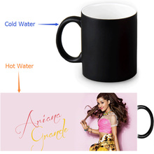Ariana Grande Coffee Mugs Morph Mug Heat Sensitive Black Colour Change Morphing Tea Mugs White Mug 350ml