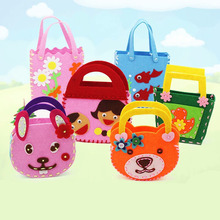 Children's Kindergarten Handmade Material Package Non-woven Fabric Handmade DIY Bag Production Scrapbook Storage Bag YWJ(China)