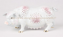 Large Pig Metal Trinket Jewelry Pill Box Money Giant New Piggy Banks Pigs Decorative Large Big Home Display Craft