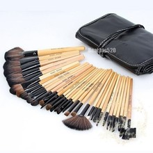 New 2014 Excellent Professional High Quality 32 Pcs Makeup Brushes Eyebrow Eyeshadow Makeup Brush Cosmetic Set Kit Case