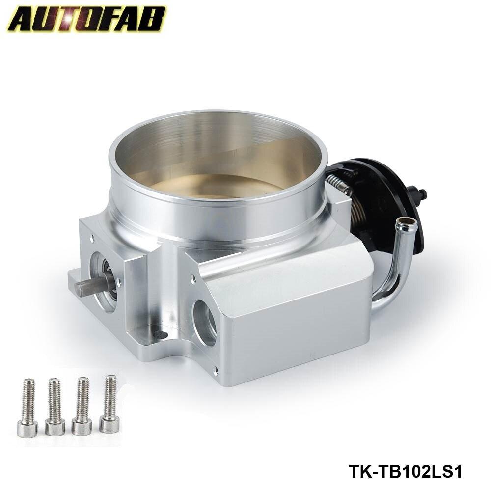 AUTOFAB - For GM 3 LS1 LS2 LS3 LS6 LS7 LSX CNC Aluminum 102MM Throttle Body 4 Bolt AF-TB102LS1