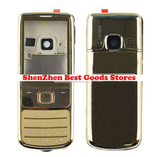 Gold Metal Housing Cover Case For Nokia 6700 6700C Classic + Keypad Repair Part