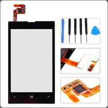 New For Nokia Lumia 520 Touch Screen Outer Glass Touch Panel Digitizer+Tools, Black Free Shipping !!!