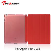 "TopArmor Retina Slim Clear Transparent Smart Back Cover Stand Leather Case For Apple iPad 2 3 4 9.7""inch(China)"