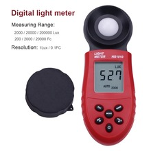 New 200,000 Lux Digital Light Meter LCD Luxmeter Lux/FC Luminometer Photometer Measure Tester(China)