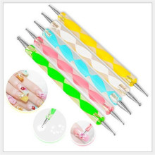 5 PCS/lot 2 way Marbleizing Nail Art Dotting Painting Pen Manicure Tools Nail Art Dotting pen Tool hot sale