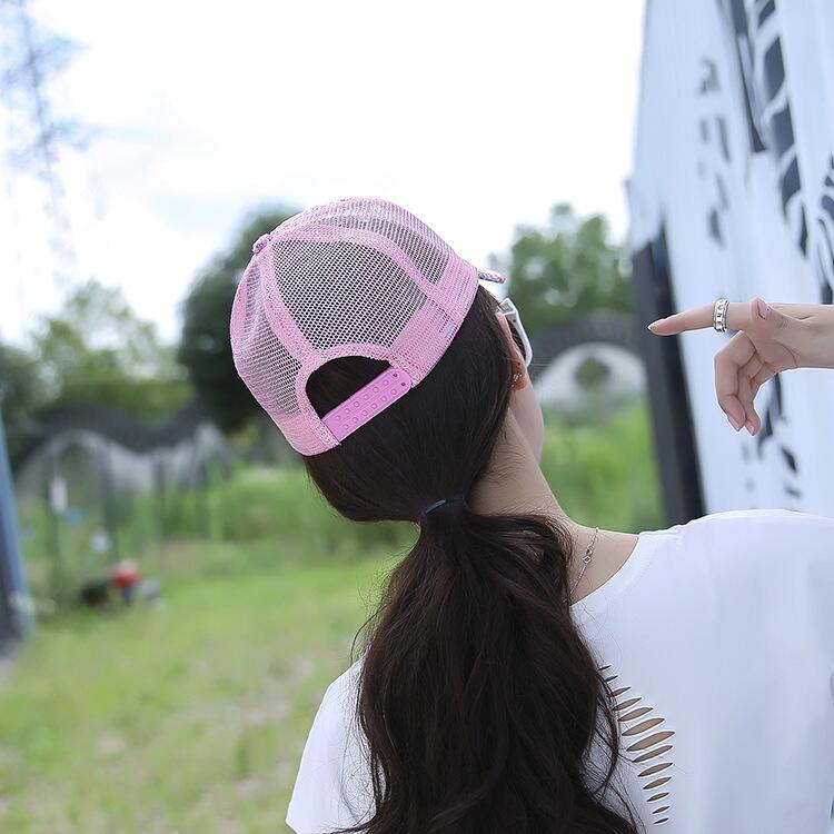 17 New Summer Black Sequins Baseball Caps For women Mesh Hat Net Cap Casquette Sparkling Leisure Sun Cap Adjustable Adult 3