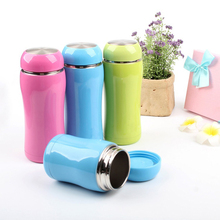 Thermoses Cup Double Wall Stainless Steel Drinkware thermo tumbler mug Lady Travel outdoor Pink Blue Solid Vacuum flask bottle