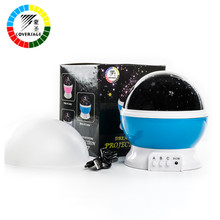 Coversage Led Rotating Night Light Lamp Starry Star Master Moon Sky Night Lighting Projector Kids Children Baby Sleeping(China)
