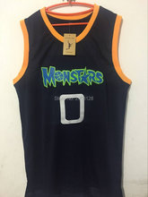 Men aliens Monstars 0 Alien movie basketball jersey embroidery jerseys dark blue size:S-XXL Accept mix wholesale Free shipping