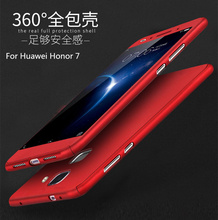 "360 Degrees For Huawei Honor 7 Case 5.2"" Full Body Protective Back Front Tempered Glass Shells on For Huawei Honor7 Case Coque(China)"