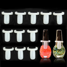 50Pcs/Set DIY Nail Art Polish Bottle UV Gel Color Pops Display Nail Art Ring Style Nail Tip Tool