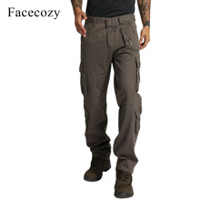 Facecozy Men Military Tactical Pants Multi-pocket Field Training Camouflage Trousers Camping Riding Hiking Outdoor Sports Pants(China)