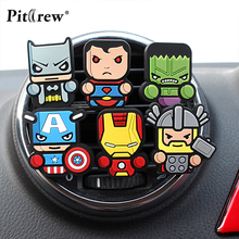 Cartoon Car Styling Marvel Style The Avengers Funny Air Freshener Perfume for Car Air Condition Vent Smell Superman Batman(China)