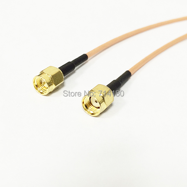 Brand New RF SMA Switch RP SMA  Pigtail Cable SMA Male Switch SMA  Male Adapter  RG316 Cable 15CM 6<br><br>Aliexpress