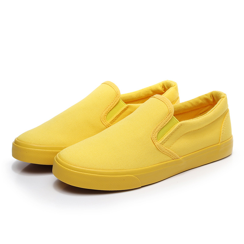 Women Vulcanize spring auntum Shoes Summer Breathable fashion Trainers Casual Shoes Cheap yellow Canvas Platform Shoes Sneakers (17)