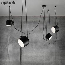 1/2/3/4/heads small drum led pendant lamp Restaurant modern clothing store window pendant light creative led indoor lighting(China)