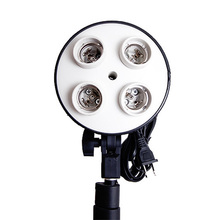 High Quality Photography Studio E27 Four Socket Lamp Holder Day Light Bulb Holder Photo Studio Accessories