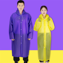Long Universal Raincoat Women Men EVA Travel Rain Poncho Rainwear Cover NOT Disposable Waterproof Camping Hooded Raincoat(China)