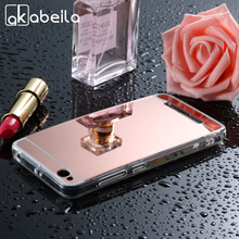 AKABEILA Mobile Phone Case For Xiaomi Redmi 4A Note 4X Cover Redmi4A Red Rice 4A 4 X Note4X Case Plating Mirror PC TPU Bags Skin