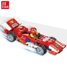 JIE-STAR 25007 High Speed Racer 110 Building Block Model Brick Children's Educational Toys F1 Formula Racing