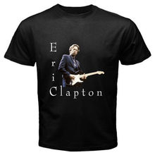 New ERIC CLAPTON Rock Blues Music Legend Men's Black T-Shirt Size S to 2XL Mens 100% Cotton Plus Size