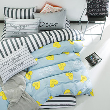 100% Cotton Bedding Sets Lovely Soft Bed Linens King Queen Size Duvet Bed Cover Sheet Twin Comforter Bedroom Home Textile
