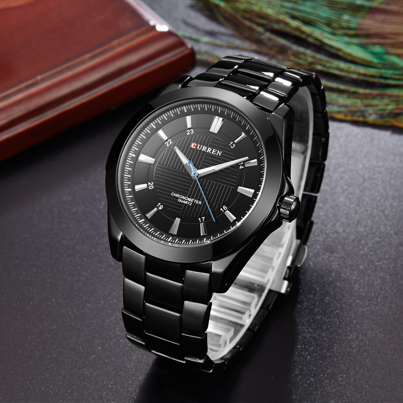 CURREN Fashion Creative Dial Watches Classic Business Full Steel Band Wristwatch Waterproof Quartz Male Clock Relogio Masculino