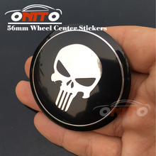 2 Car Styling 20pcs 56mm ABS Auto wheel hub stickers label For Skull /Bone decals Fit Skoda Buick Jeep accessories emblem badge(China)
