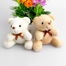 Teddy Bear Mini Design Baby Girl/Boy Plush Toys Key Pendant Flower Bouquets Weddin Promotions Gifts Bear(China)