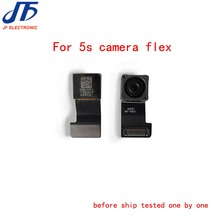 5pcs/lot Back Rear Camera With Flash Module Sensor Flex Cable For iPhone 5S Replacement Parts(China)