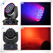 Dj music equipment zoom circle 36x18w lyre dmx led wash 36 6 in 1 zoom moving head(China)
