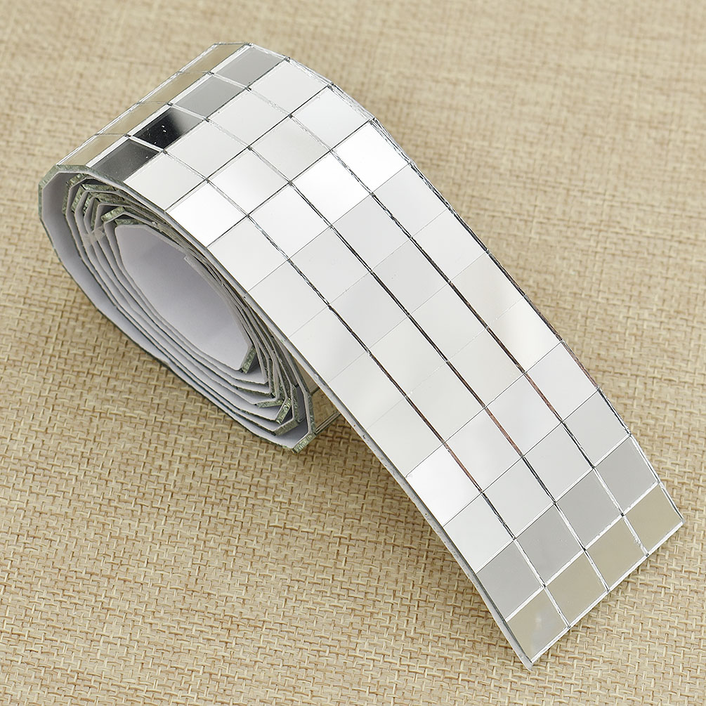 Roll Self-Adhesive Glass Mirrors Mosaic Tiles For DIY Craft Home Decor Supplies
