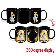 New Arrival Dragon Ball Z SSJ Gogeta Heat Reactive Color Changing Ceramic Coffee Mug Novelty Caneca Cup Cups Creative Mugs Gift(China)