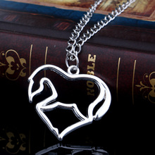 1 PCS Fashion Necklace Jewelry Animal Horse Zinc Alloy Link Chain Pendant Necklace for Men Women Decoration Gift Party Necklace