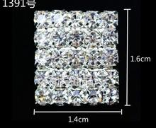 Square claw chain Diamond metal buttons Rhinestone metal Alloy Wedding Scrapbooking Napkin Ring embellishment Craft buttons