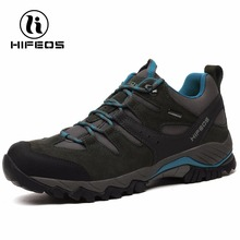 HIFEOS men's tactical hiking boots sneakers sports shoes lightweight walking breathable mountain camping outdoor climbing M04C(China)