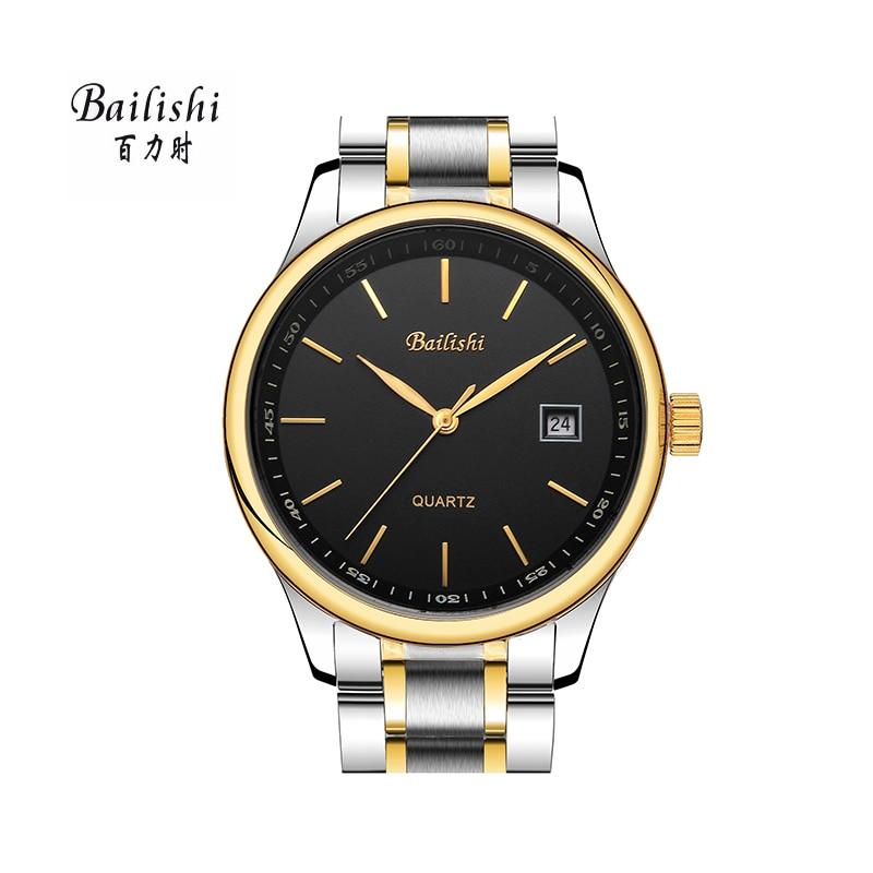 BAILISHI Brand Feminino Date Day Clock Male Stainless Steel Watch Ladies Fashion Casual Watch Quartz Wrist Men Watches<br>