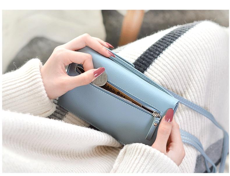 19 New Women Casual Wallet Brand Cell Phone Wallet Big Card Holders Wallet Handbag Purse Clutch Messenger Shoulder Straps Bag 33