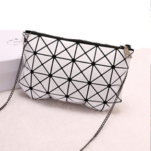 NEW japanese Famous luxury baobao geometry bag leather messenger bag women Chain navy clutch designer Folding Mini diamond bag