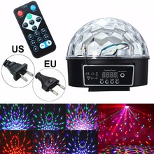 Smuxi DMX512 LED RGB Stage Light Voice Control Magic Crystal Ball Disco DJ Party KTV Club Bar Show Stage Lighting Effect