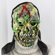 New Halloween Cosplay Latex Adult Costume Bloody Zombie Mask Melting Face Walking Dead Scary Party Mask Mardi Gras Ball Masks