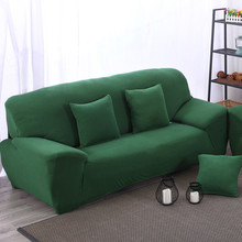setter couch armchair loveseat Chaise four seater l corner  sofa cover with elastic solid color dark green