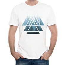 2017 Fashion Sacred Geometry Triangles T-Shirt Men's Creative Custom Misty Forest T-Shirt Summer Novelty Cool Tee Shirts