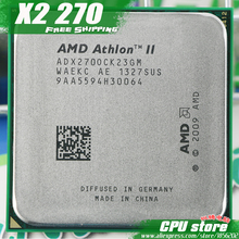 AMD Athlon II  X2 270 CPU Processor  Dual-Core (3.4Ghz/ L2=2M /65W / 2000GHz) Socket am3 am2+  free shipping 938 pin,sell X2 280